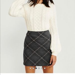 Abercrombie Wool Blend Mini Skirt